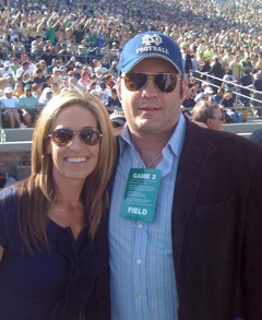 Alex Flanagan and Vince Vaughn