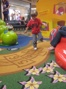 Burning some energy at the indoor playground.