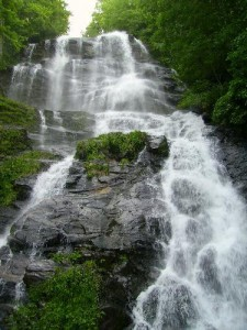 Amicalola Falls are the tallest cascading waterfall east of the Mississippi River