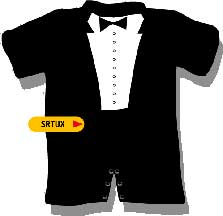 tux romper Kids Tees To Get You Laughing
