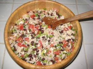 009 300x225 Delish Dish: Rice, Black Bean and Feta Salad
