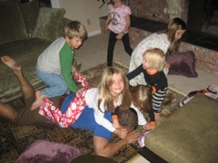 Kids and morning chaos