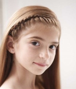 French Braid Hairband Cropped1 256x300 5 Holiday Hairstyles For Your Little Girl