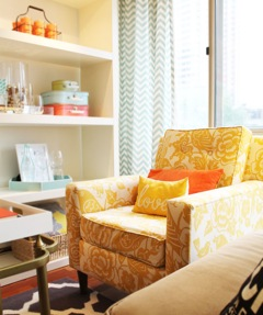 yellow+statement+chair  5 Easy Ways to Spruce Up Your Home, Nursery & Childs Bedroom
