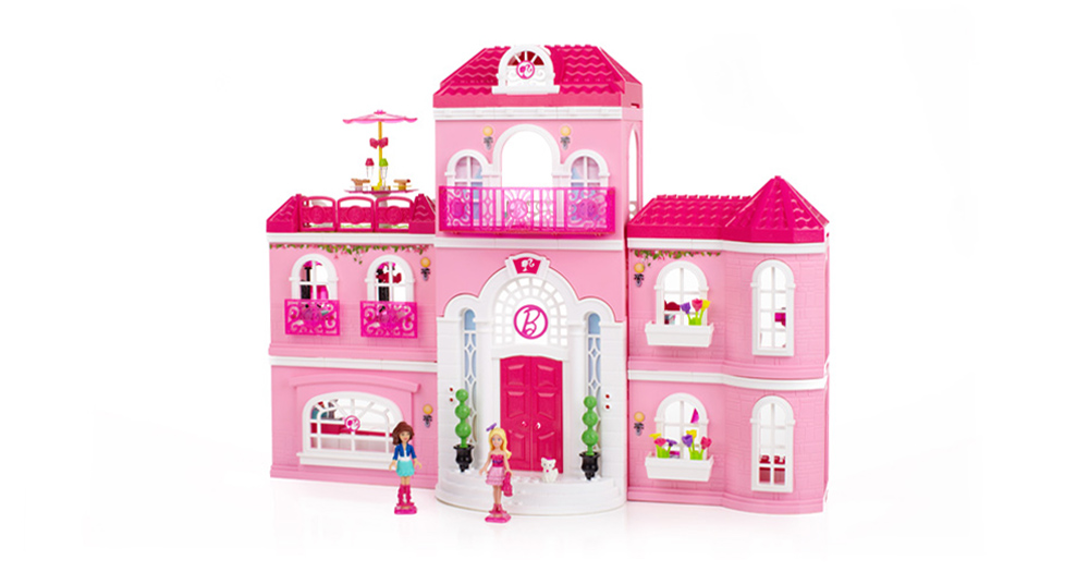 megabloks build n style luxury mansion 80229 3152 Mega Bloks Barbie Build N Style Luxury Mansion