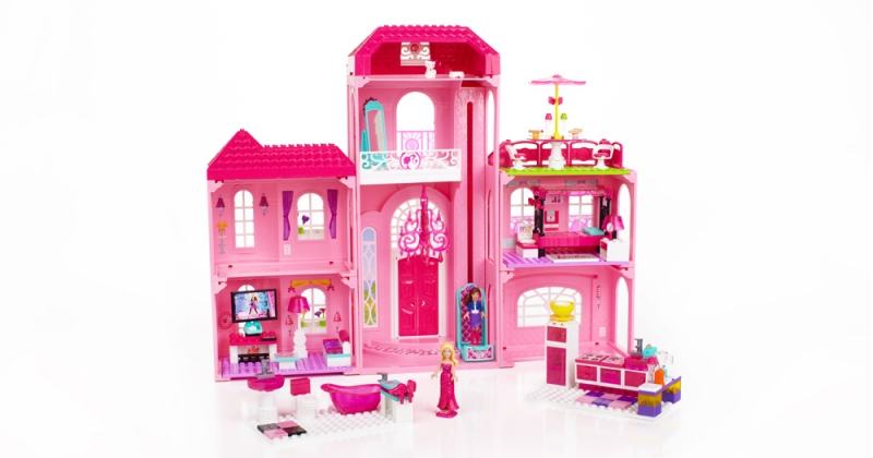 megabloks build n style luxury mansion back1 Mega Bloks Barbie Build N Style Luxury Mansion