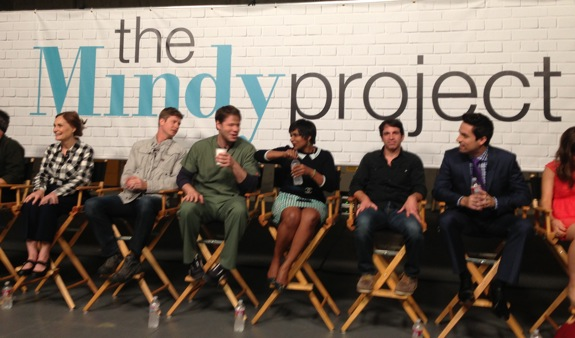 First up was a group interview with the cast - very funny!