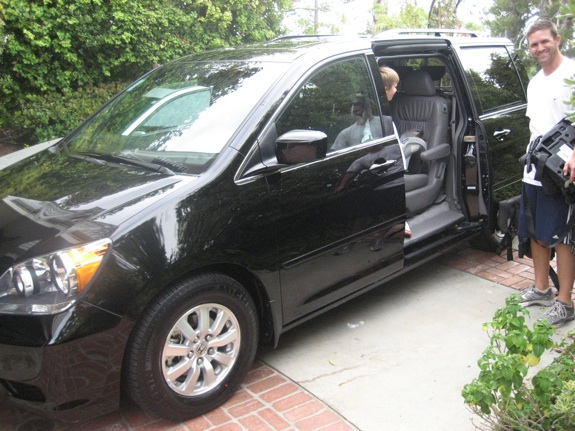 Getting our very first minivan home on 2010.