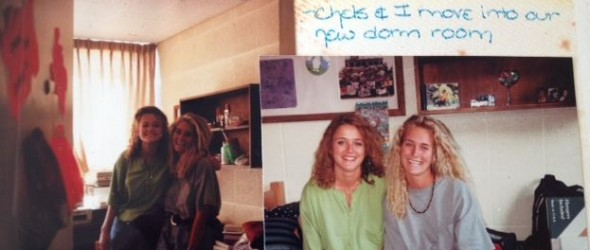 A classic from the photo album--Chelsea and me on college move-in day.