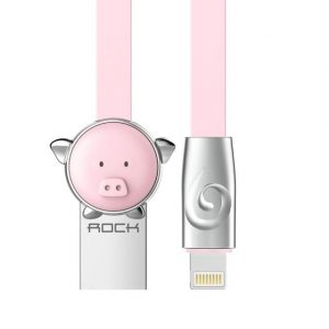 Pig Zinc Alloy usb cable for iPhone 6 5s 7, Rock mascot light cable for iPhone/iPad/iPod charging cable